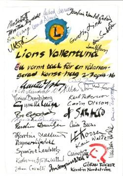 Medverkande konstnärer tackar för utställningen med ett jättefint tackkort