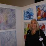 Gunilla Ysberg på LC Vallentuna Konstutställning 2016