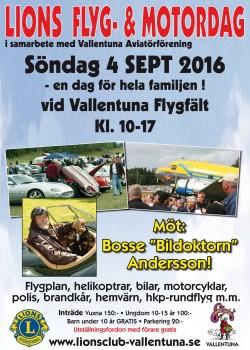 Välkommen till Lions Flyg- och Motordag söndag 4 september 2016