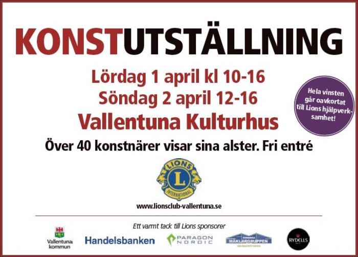 LC Vallentuna Konstuställning 2017
